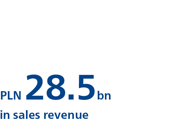 PLN 28.5bn in sales revenue
